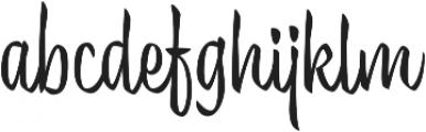 Trendy Display Regular otf (400) Font LOWERCASE