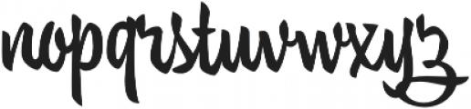 Trendy Text Black otf (900) Font LOWERCASE