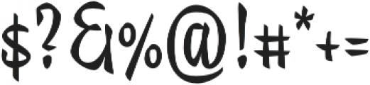 Trendy Text Bold otf (700) Font OTHER CHARS