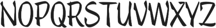 Trendy Text Bold otf (700) Font UPPERCASE