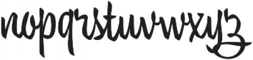 Trendy Text Bold otf (700) Font LOWERCASE