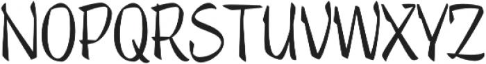 Trendy Text Regular otf (400) Font UPPERCASE