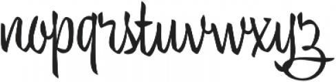 Trendy Text Regular otf (400) Font LOWERCASE