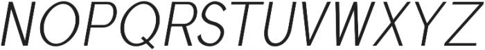 Treyton Light Italic otf (300) Font UPPERCASE