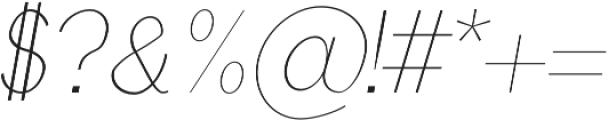 Treyton Thin Italic otf (100) Font OTHER CHARS