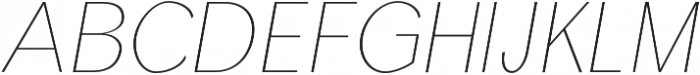 Treyton Thin Italic otf (100) Font UPPERCASE