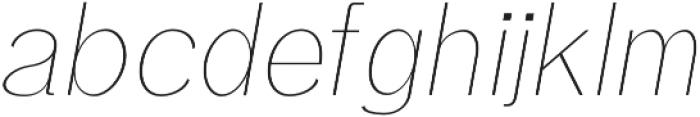 Treyton Thin Italic otf (100) Font LOWERCASE