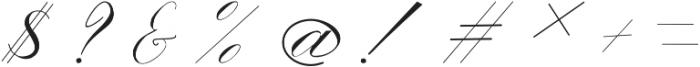 Triana otf (400) Font OTHER CHARS