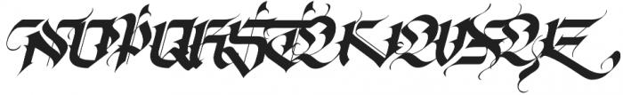 Tribal Regular otf (400) Font UPPERCASE