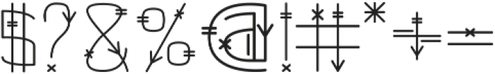 Tribal otf (400) Font OTHER CHARS