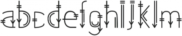 Tribal otf (400) Font LOWERCASE