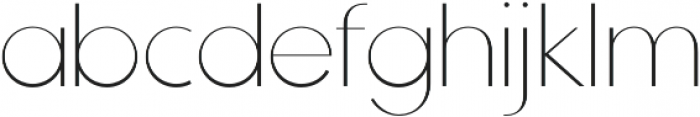 Tric Thin otf (100) Font LOWERCASE