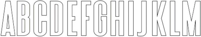 Triester Sans Outline otf (400) Font UPPERCASE