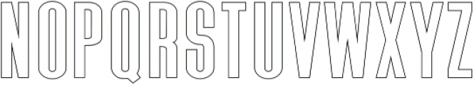 Triester Sans Outline otf (400) Font LOWERCASE