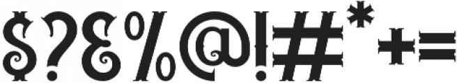 Trigger otf (400) Font OTHER CHARS