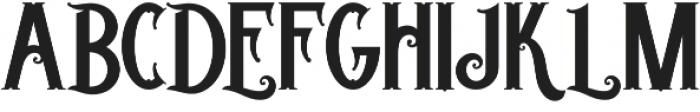 Trigger otf (400) Font UPPERCASE
