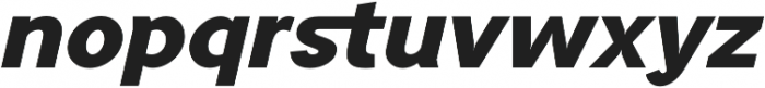 Tripleta Black Italic otf (900) Font LOWERCASE