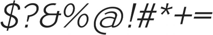 Tripleta Light Italic otf (300) Font OTHER CHARS