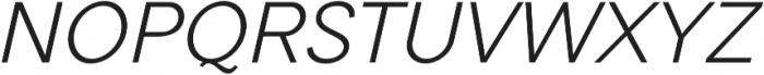 Tripleta Light Italic otf (300) Font UPPERCASE