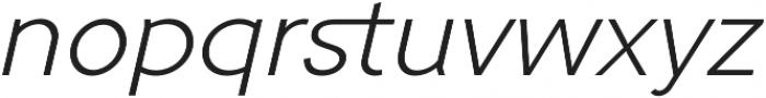 Tripleta Light Italic otf (300) Font LOWERCASE