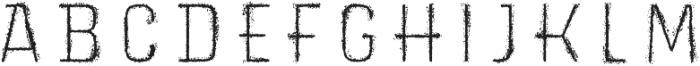 Triump Rg Rock 09 otf (400) Font UPPERCASE