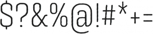 Triunfo Condensed otf (300) Font OTHER CHARS