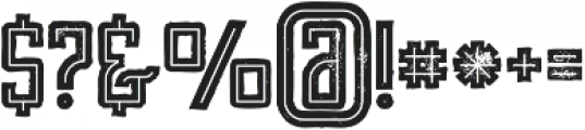 Tron Bold Inline Grunge otf (700) Font OTHER CHARS