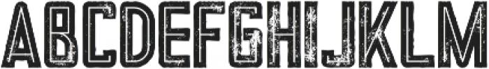 Tron Bold Inline Grunge otf (700) Font LOWERCASE