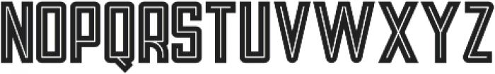 Tron Bold Inline otf (700) Font LOWERCASE