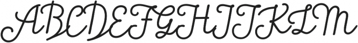 Tropen Script Italic otf (400) Font UPPERCASE