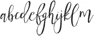 Tropical Nights otf (400) Font LOWERCASE
