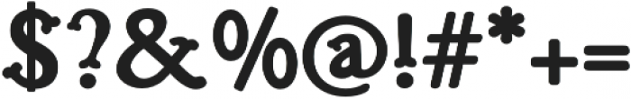 Troupe Bold otf (700) Font OTHER CHARS