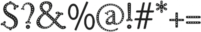 Troupe Dots otf (400) Font OTHER CHARS