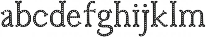 Troupe Dots otf (400) Font LOWERCASE