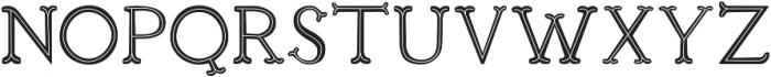 Troupe Inner Stroke otf (400) Font UPPERCASE