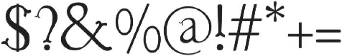 Troupe Light otf (300) Font OTHER CHARS