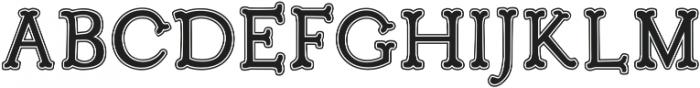 Troupe Outline Filled otf (400) Font UPPERCASE