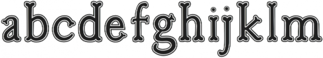 Troupe Outline Filled otf (400) Font LOWERCASE