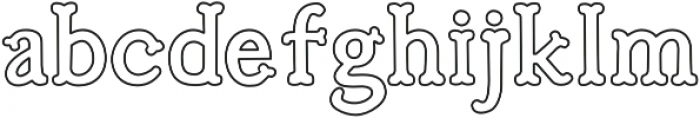 Troupe Outline otf (400) Font LOWERCASE