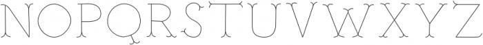 Troupe Ultra Light otf (300) Font UPPERCASE