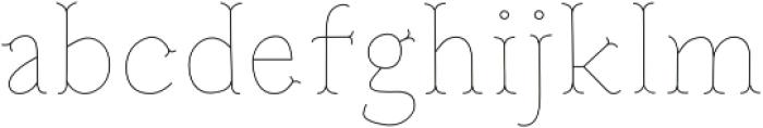 Troupe Ultra Light otf (300) Font LOWERCASE