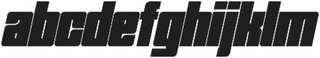 Trudal Italic otf (400) Font LOWERCASE