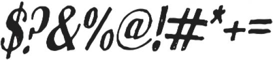 True Sketch Italic otf (400) Font OTHER CHARS