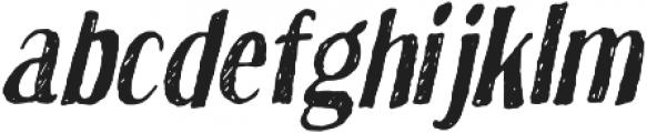 True Sketch Italic otf (400) Font LOWERCASE