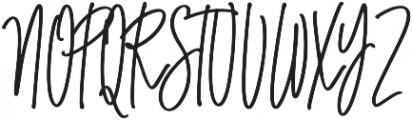 Truly Lully otf (400) Font UPPERCASE