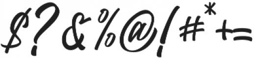 Trushme Script Regular otf (400) Font OTHER CHARS