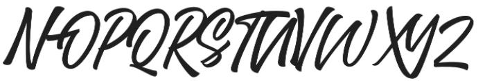 Trushme Script Regular otf (400) Font UPPERCASE