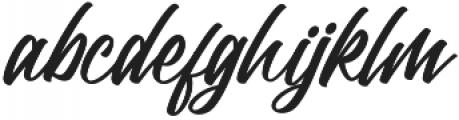 Trushme Script Regular otf (400) Font LOWERCASE