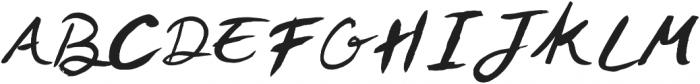 Trying otf (400) Font UPPERCASE