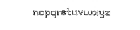 TRUMANS-Outline.otf Font LOWERCASE